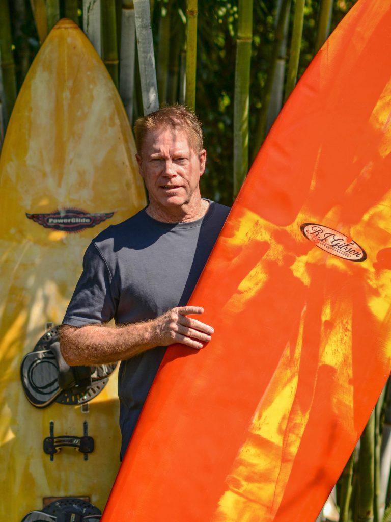 South Florida surfer, and resin artist Bob Gibson